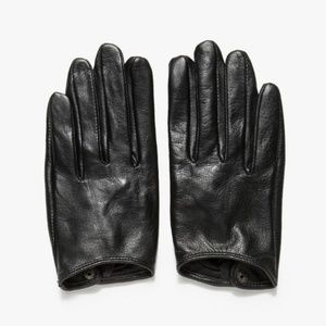 NWT need supply black leather gloves